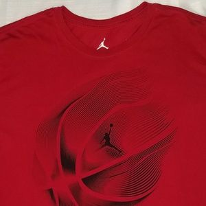 Jordan DRI-FIT T-Shirt Red 2XL XXL Basketball